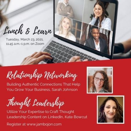 Lunch and Learn March 23